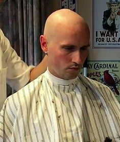 Bald Men Style, Bald Look, Mr Clean, Bald Hair, Shaved Head, Skinhead, Haircuts For Men, Capes, Barber Shop