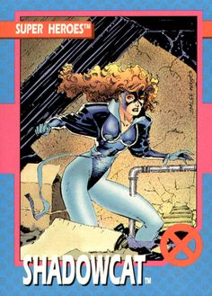 Shadowcat by Jim Lee from the Impel Uncanny X-Men Trading Card Set (1992)