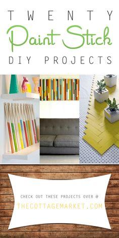 20 Paint Stick DIY Projects - The Cottage Market #PaintStick, #DIYPaintStickProjects, #PaintStickDIYProjects, #DIYPaintStick, #PaintStickCrafts