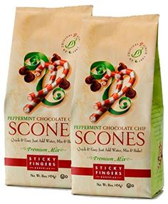 perfect for Christmas morning!  Sticky Fingers Scone Mix in Peppermint Chocolate Chip