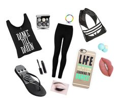 """Dance till dawn"" by jojosoftball19 ❤ liked on Polyvore featuring Wolford, Havaianas, adidas, Casetify, Chanel, River Island and Lime Crime"