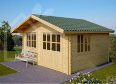 Log cabin JAKSON 12m² (4x3) 28mm (Shed)