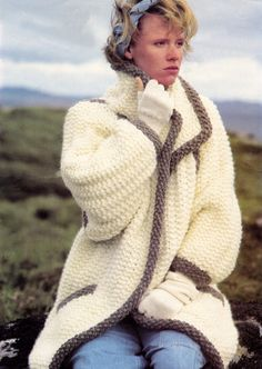 Knitting Pattern  Ladies Super Chunky Coat  30 to 40 by carolrosa
