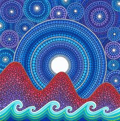 3 mountains and a moon by Elspeth McLean