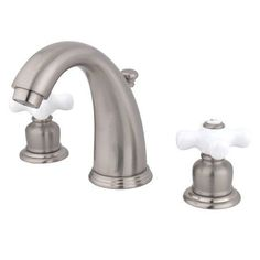Kingston Brass GKB98.PX Vintage Widespread Bathroom Faucet with Pop-Up Drain Ass