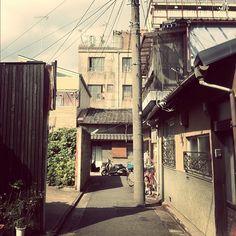back alley, Kyoto