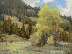Wind River Spring by Steve Atkinson Oil ~ 12 x 9