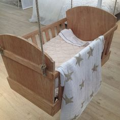 Ariadne at Home hanging cradle; most amazing crib ever!!!