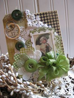 vintage st patricks day card-IRISH LASS card-st patties greeting card