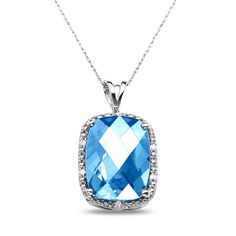 Ebay NissoniJewelry presents - .05CT Diamond Pendant with Blue Topaz and Chain in 10k White Gold    Model Number:PV5295A-W077BT    http://www.ebay.com/itm/.05CT-Diamond-Pendant-with-Blue-Topaz-and-Chain-in-10k-White-Gold/321612208999