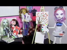 How to make doll school supplies part 3: Monster High Art Class