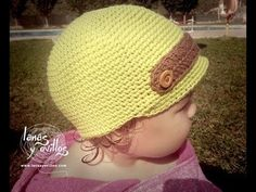 Crochet child hat, spanish. Tutorial Gorro Crochet Niño Paso a Paso en Español.
