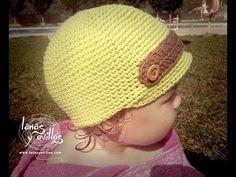 Crochet child hat, spanish. Tutorial Gorro Crochet Niño Paso a Paso en Español.