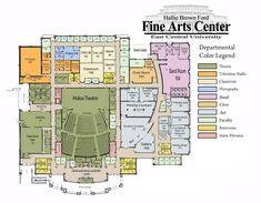 Hallie Brown Ford Fine Arts Center floorplan