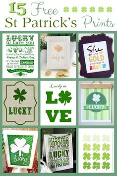 15 amazing St Patrick's Day Prints all for free.