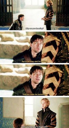 Toby Regbo as Francis and Torrance Coombes as Bash in Reign. Mary Stuart, Mary Queen Of Scots, Queen Mary, Reign Bash, Toby Regbo Reign, Reign Serie, Reign Mary And Francis, Reign Quotes, Torrance Coombs