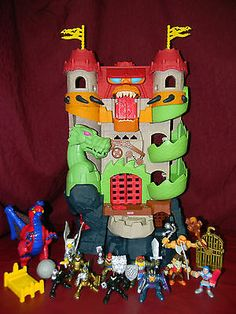 Imaginext Dragon World Play Set Castle Fortress Knights Gryphon Lights & Sound