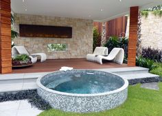 The History of Jacuzzi Outdoor Refuted Some Jacuzzi bathtubs have the capacity to run even when there's no water in the tub. Deciding upon a Jacuzzi bathtub on a normal bathtub has its benefits and disadvantages. Pools For Small Yards, Small Swimming Pools, Small Backyard Pools, Swimming Pool Designs, Indoor Pools, Pool Decks, Backyard Ideas, Lap Pools, Small Garden Jacuzzi