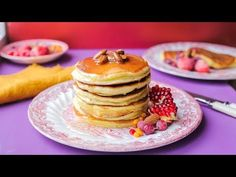 CLĂTITE PUFOASE CU IAURT GRECESC | Rețetă+Video - Valerie's Food Pancakes, Cookies, Breakfast, Youtube, Food, Greece, Crack Crackers, Morning Coffee, Pancake