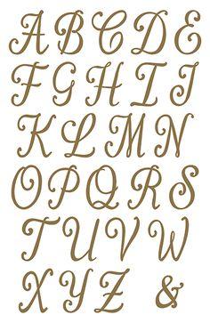 Fonts Alphabet Discover Gold Monogram Letters and Numbers Gold Monogram Letters and Numbers Pretty Fonts Alphabet, Calligraphy Fonts Alphabet, Cursive Alphabet, Tattoo Lettering Fonts, Hand Lettering Alphabet, Doodle Lettering, Creative Lettering, Pretty Letters, Alphabet Stencils