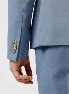 Light Blue Double Breasted Suit Jacket - Men's Blazers - Clothing - TOPMAN