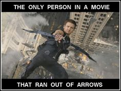 Bad Luck Hawkeye // funny pictures - funny photos - funny images - funny pics - funny quotes - #lol #humor #funnypictures