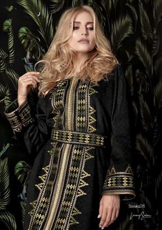 Rim Biaz Mode Abaya, Afghan Dresses, Elie Saab Couture, Moroccan Dress, Beautiful Costumes, Beading Projects, Embroidery Dress, My Style, Success