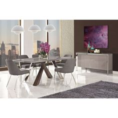 Vanda Dining Table, 6 Chairs and Buffet