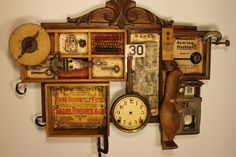 Mail Order--Junk Drawer Series is a mixed media assemblage by Whawi member artist Kathy Moore. I think this piece is charming.