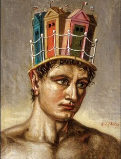Giorgio de Chirico (1888-1978)...The Poetical Dreamer, 1937 The Cabinet of the Solar Plexus: