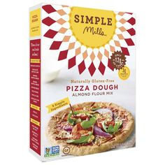 Simple Mills Almond Flour Pizza Dough Mix - Case Of 6 - Oz.: Simple mills pizza dough mix is made with almond flour and ground flax for nutrient value. Gluten-free and vegan doesn't. Easy Pizza Dough, Pizza Bake, Baking With Almond Flour, Baking Flour, Coconut Flour, Gourmet Recipes, Whole Food Recipes, Free Recipes, Pizza