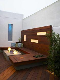 modern schlicht veranda aus holz