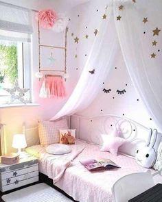 Wandschmuck-Set Confetti Dots Here More. Pink Bedroom For Girls, Baby Bedroom, Little Girl Rooms, Baby Room Decor, Nursery Room, Bedroom Decor, Bedroom Ideas, Diy Zimmer, Princess Room