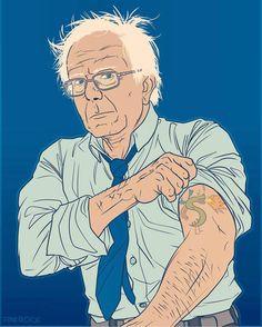 Berninator Sanders for President. Bottle Cap Earrings, Bernie Sanders For President, Political Art, Power To The People, New Pictures, Caricature, Anime Art, Instagram Posts, Illustration
