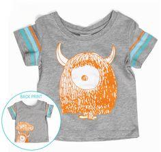 Monster grey toddler t-shirt | hardtofind.