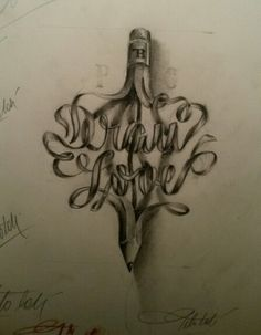#draw #tattoo #caligraphy #tiphography