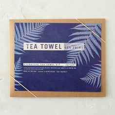 "Create photographic prints of plant specimens from your own backyard using just sun and water. This simple sun printing kit includes detailed instructions and a cotton tea towel that awaits your botanical designs.- Kit includes: 16x24"" cotton tea towel- USAPackage: 11.5""W, 9""L"