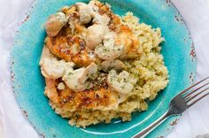 Creamy Asiago Chicken!