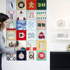 My design inspiration: Xmas Advent Calendar Wall Art on Fab.