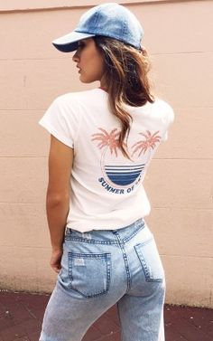 Palmy Days Tee in White