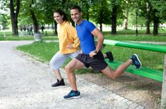Turn your walk into a complete workout that includes strength-training with a couple of simple, outdoor exercises. Group Fitness, Fitness Tips, Health Fitness, Fitness Studio, Park Workout, Butt Workout, Workout Fun, Street Workout, Outdoor Workouts