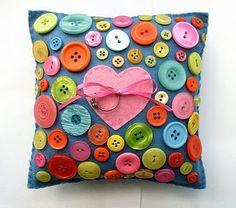 button pillow, this was a ring bearer pillow but you can leave off the ribbon tie.
