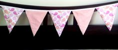 Bunting Banner flannelette and minky baby girl by CloudyCuddles Bunting Banner, Children, Unique Jewelry, Handmade Gifts, Pink, Baby, Vintage, Young Children, Kid Craft Gifts
