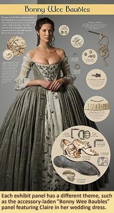 Terry Dresbach stitches to life the magnificent clothing for the characters of Diana Gabaldon's beloved Outlander! Diana Gabaldon Outlander Series, Outlander Book Series, Outlander Quotes, 18th Century Dress, 18th Century Fashion, Historical Costume, Historical Clothing, Historical Romance, Claire Outlander