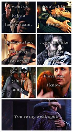 [gifset] Family don't end with blood. Dean and family :) #SPN
