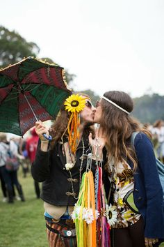 Outside Lands 2013, Flower Power // @Stephanie Close Hua {Lick My Spoon} It's us!  :)  Gypsy Halos!
