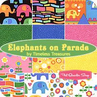 Elephants on Parade Fat Quarter Bundle  Timeless Treasures Fabrics