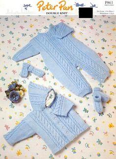 Retro Peter Pan Baby's Knitting Patterns - PDFs - £1.45 No Postage