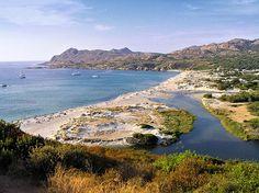 Région de A Balagna - La Balagne --- Palasca Embouchure et la plage de l'Ostriconi