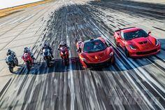 Superbikes vs. Supercars Performance Shootout